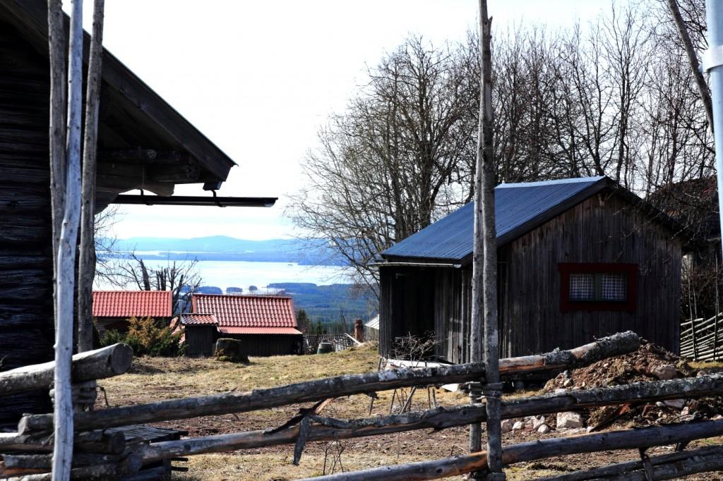 Vue sur le lac d'Orsa, Fryksås, Dalarna, suède