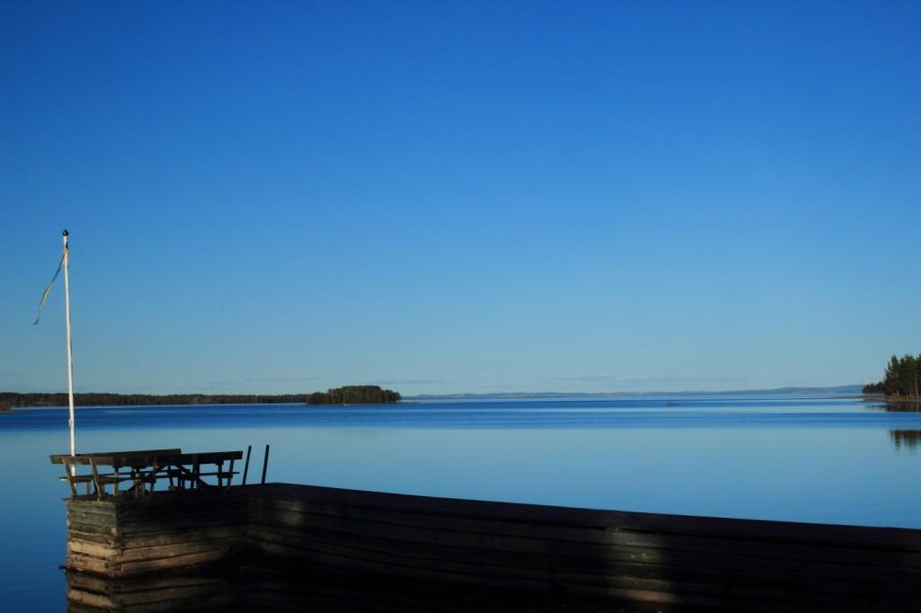 Ponton sur le Lac Siljan