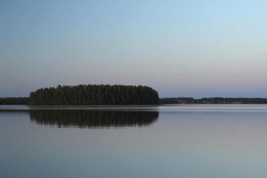 Fin de journée sur le Lac Siljan