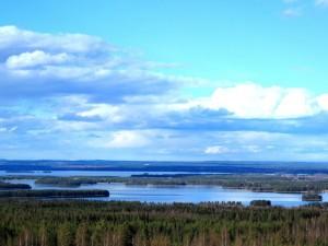 Vue depuis Gesundaberget sur le lac Siljan