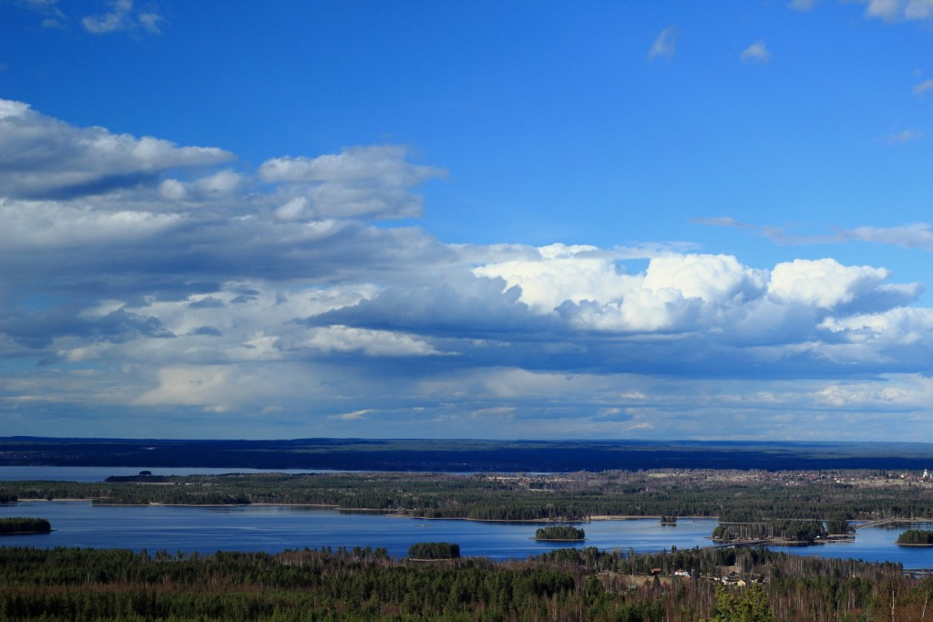 Panorama Gesundaberget, Dalarna, Suède