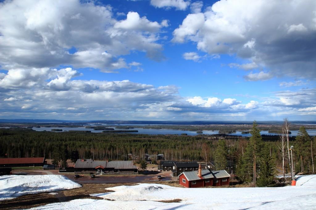 Vue depuis Gesundaberget, Dalarna, Suède