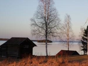 Vue sur le lac Siljan, Dalarna, Suède