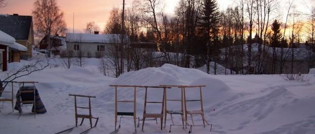 Kicksled Aurora retreat Laponie