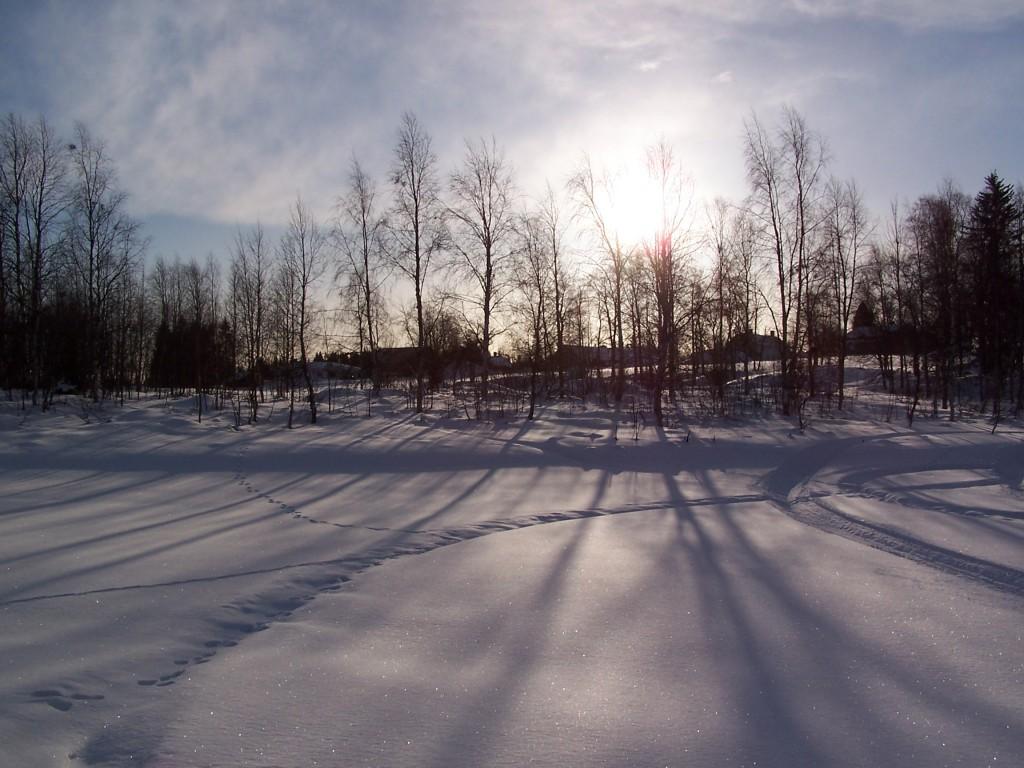 Soleil en Laponie