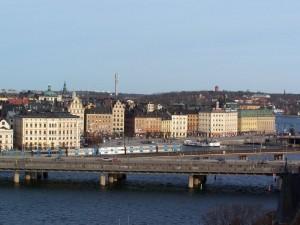 Stockholm, vue sur Galma Stan depuis Slussen