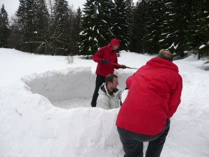 construction de l'igloo