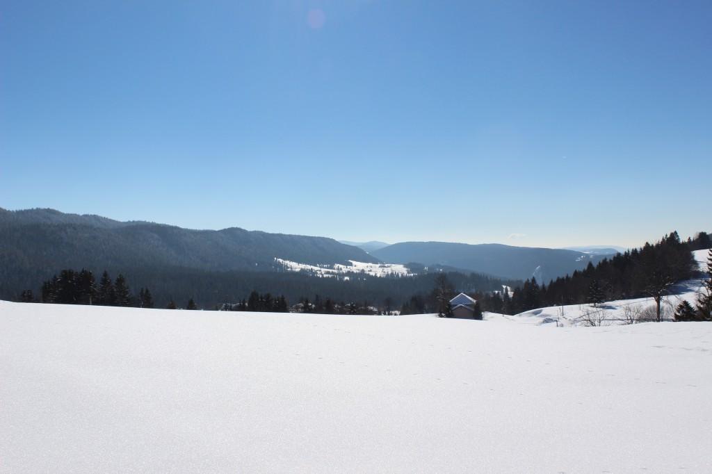 La vallée depuis le gite de Bellefontaine