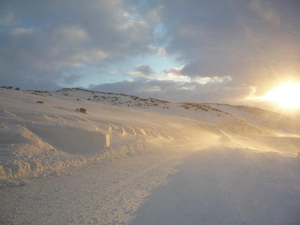 Lumière route Mehamn