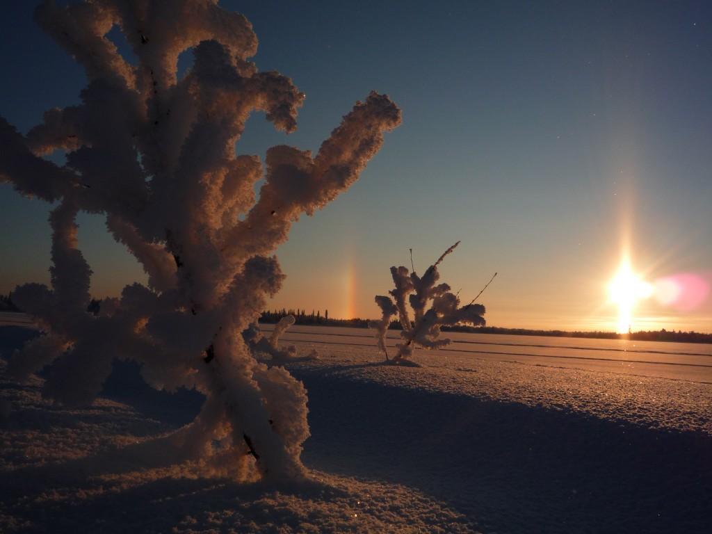 Parhelie en Laponie