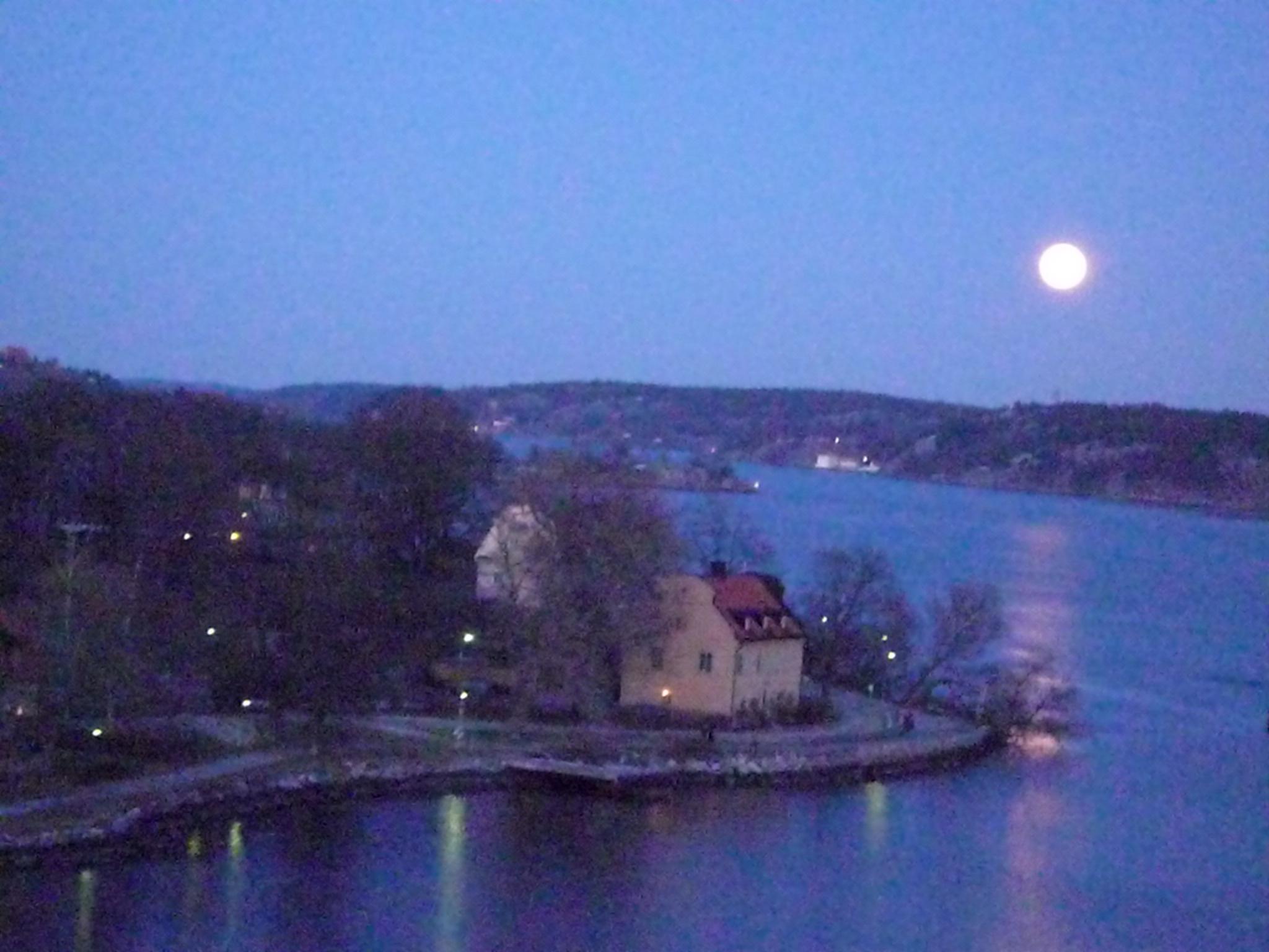 Archipel de Stockholm de nuit