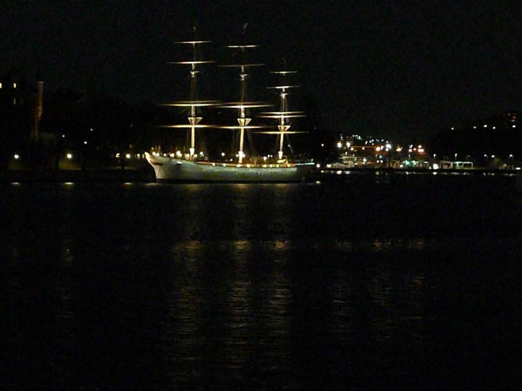 Bateau Stockholm de nuit