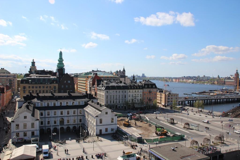 Stockholm vu de Slussen
