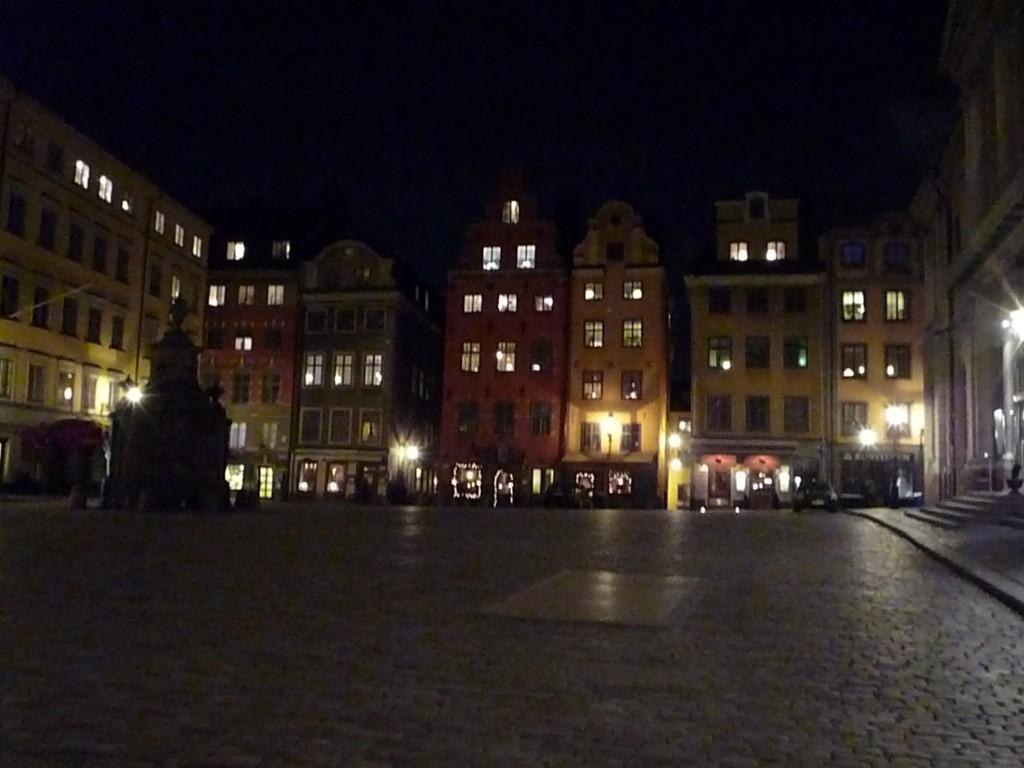 Stockholm Stortorget de nuit