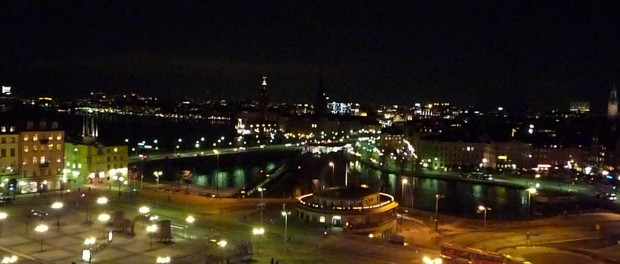 Stockholm ville de nuit