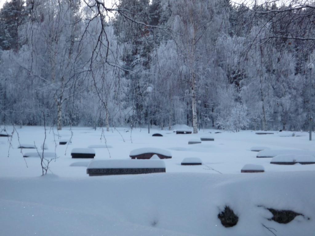 cimetière sans traces en Laponie