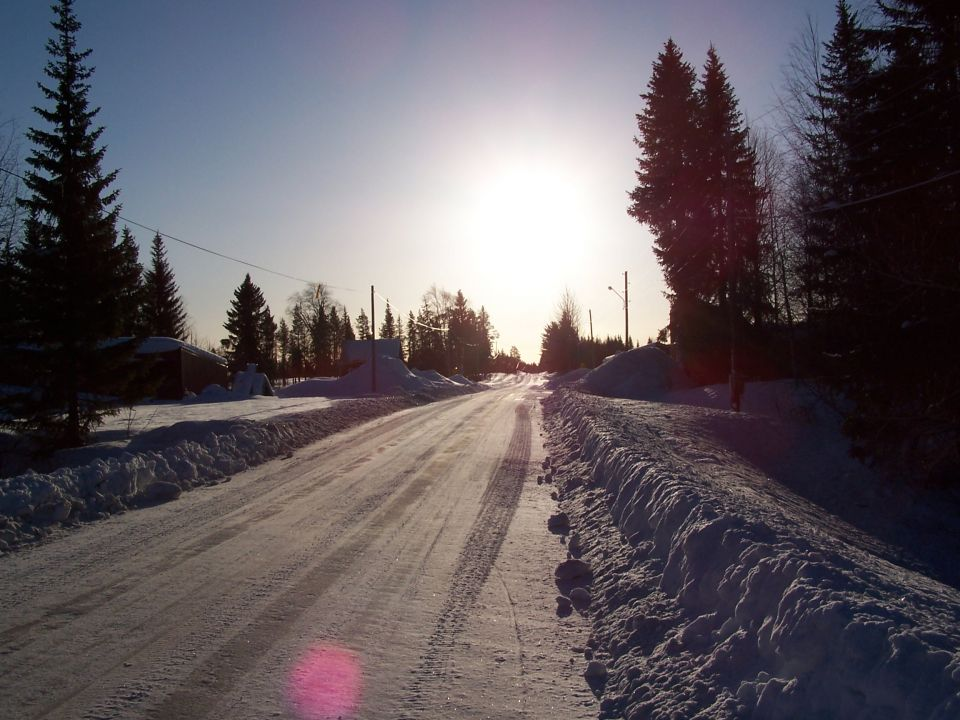 Route blanche en Laponie