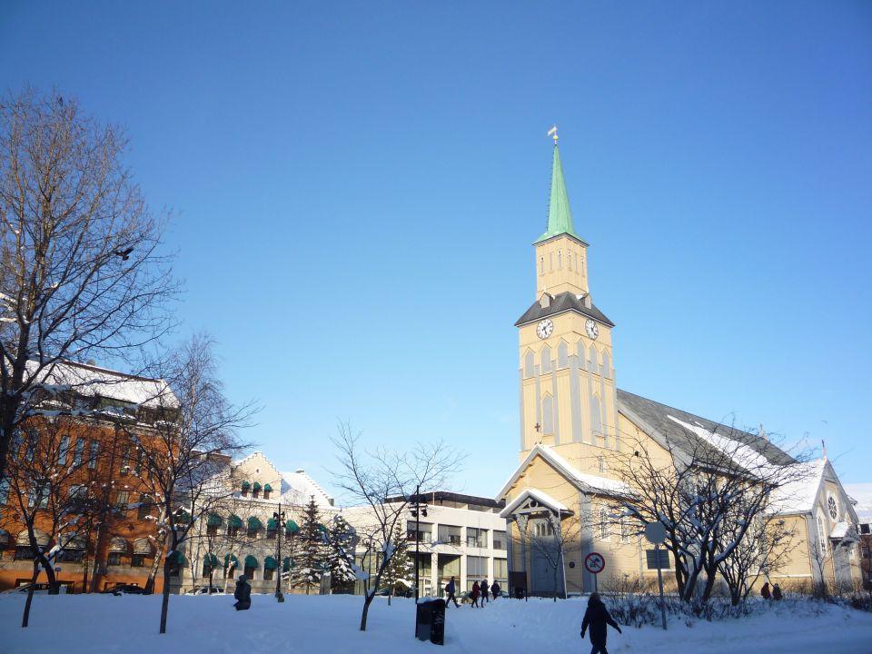 Eglise de Tromsø en norvege