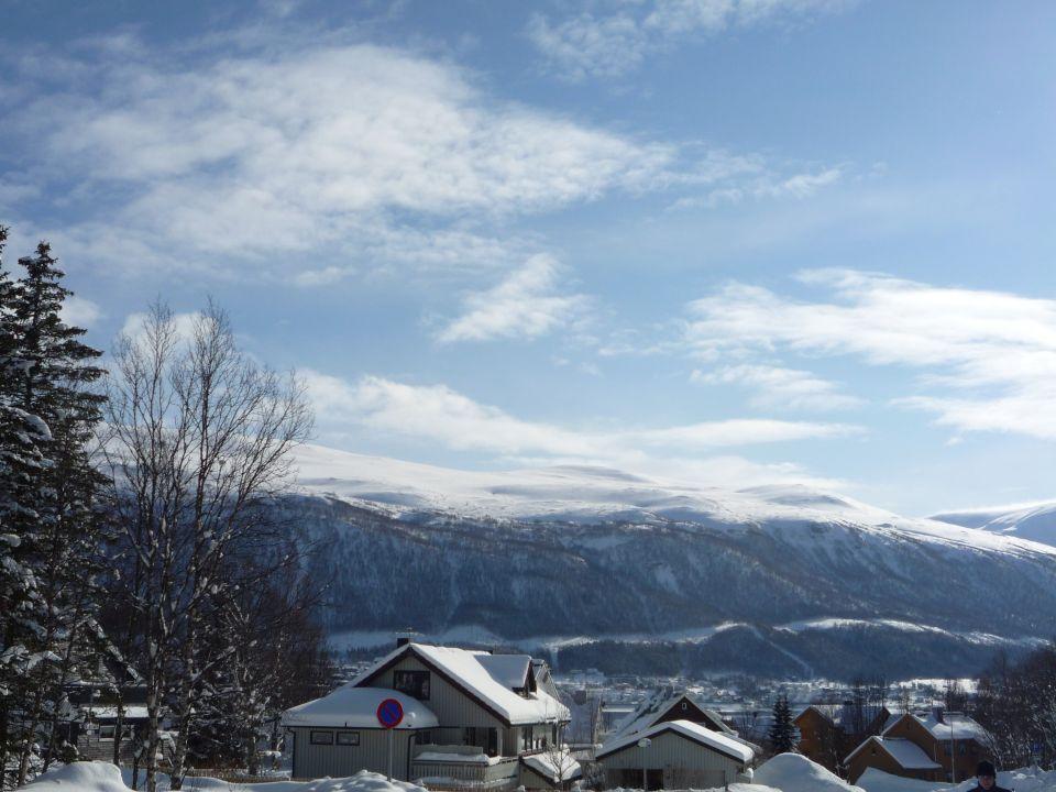 Vue depuis les hauteurs de Tromsø en norvege
