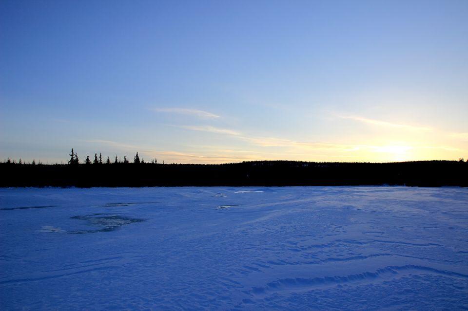 Fin de journée au camp en Laponie