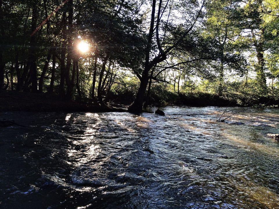 Indre dans le Berry photo et reflets dans le rivière