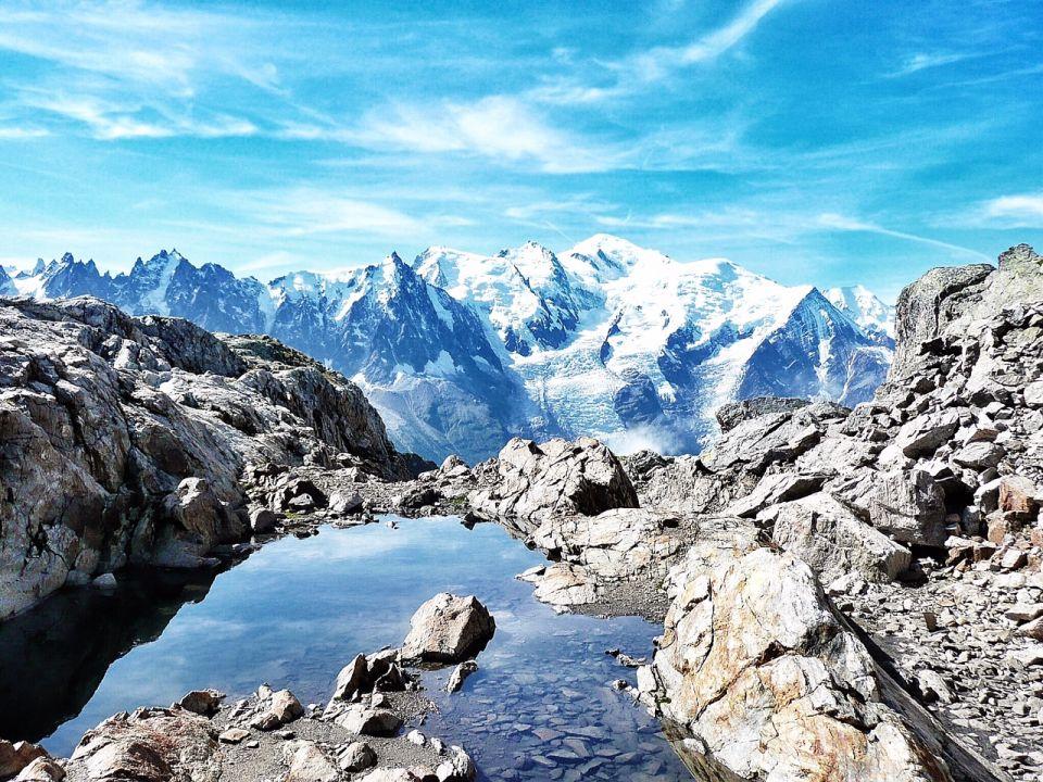 Le Lac blanc et sa vue sur le Mont blanc