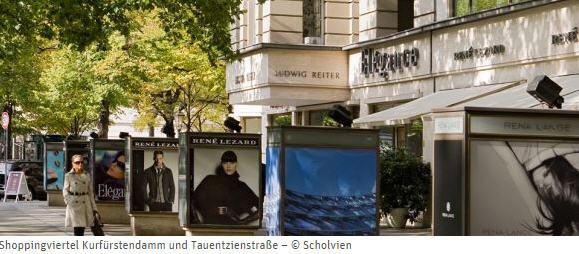 Berlin shopping Kurfürstendamm et Tauentzienstraße