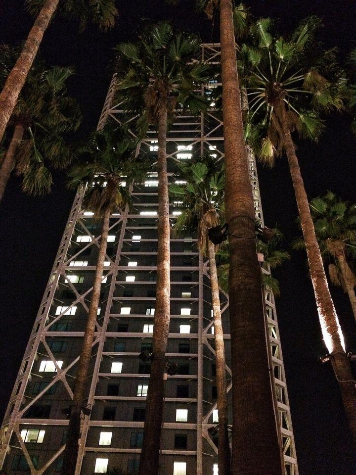 Arts hotel Barcelone nuit