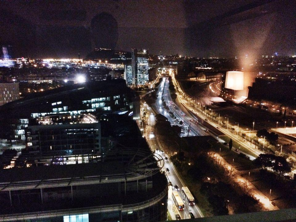 Barcelone vue de nuit