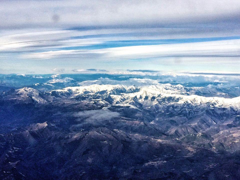 Les pyrenees vue du ciel