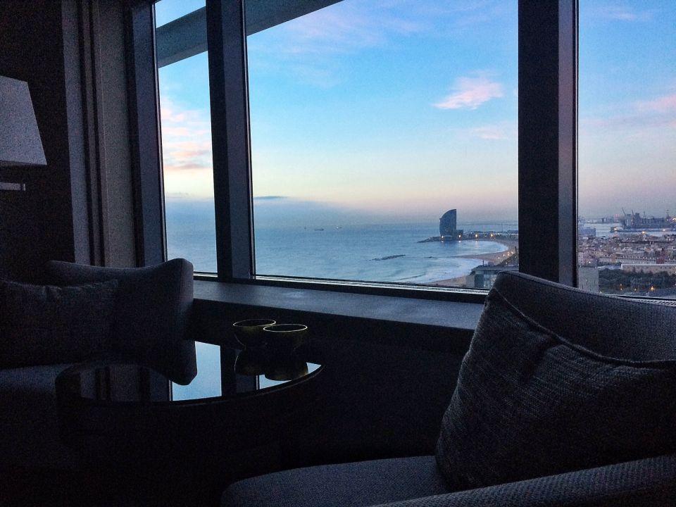 Vue chambre hotel arts barcelona