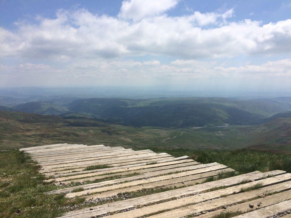 Vers le sommet du plomb du Cantal