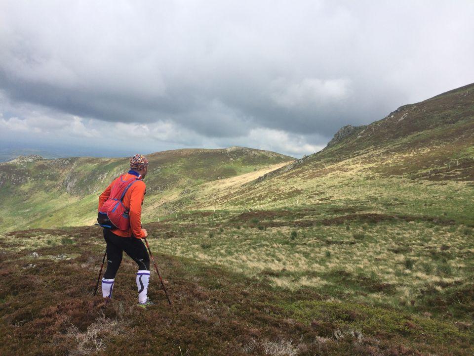 paysage pour le trail du cantal