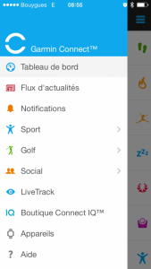 Garmin connect app