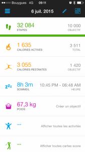 stats garmin connect app