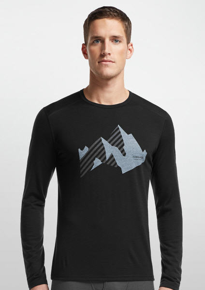 T-shirt Icebreaker Oasis sleeve crew