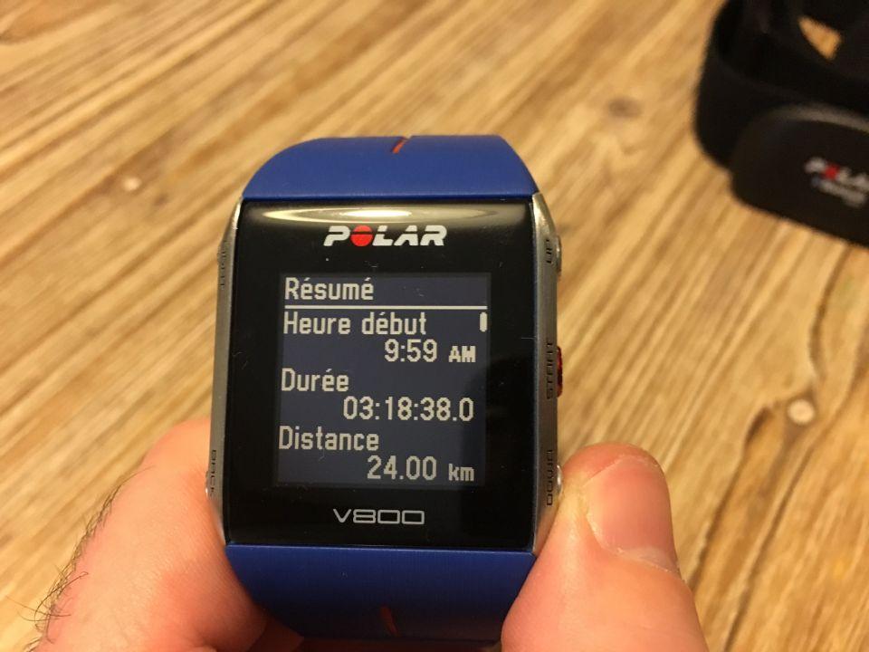 resumé seance running polar V800