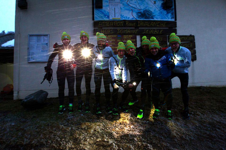 Equipe nuit trail blanc des Vosges