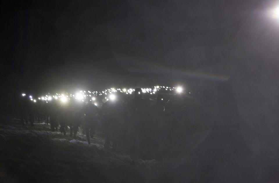 Peloton nocturne Trail blanc des Vosges
