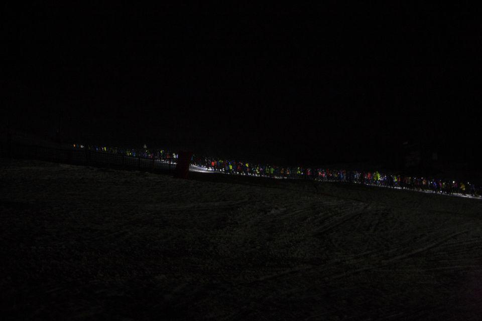 Trail blanc des Vosges peloton nocturne