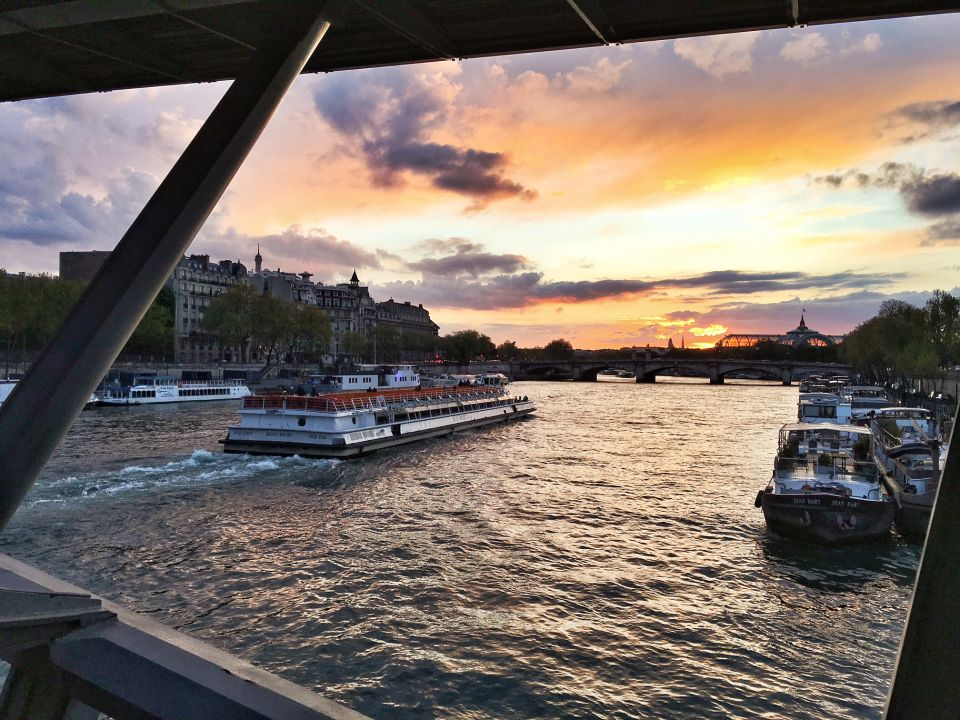 Seine à Paris coucher de soleil