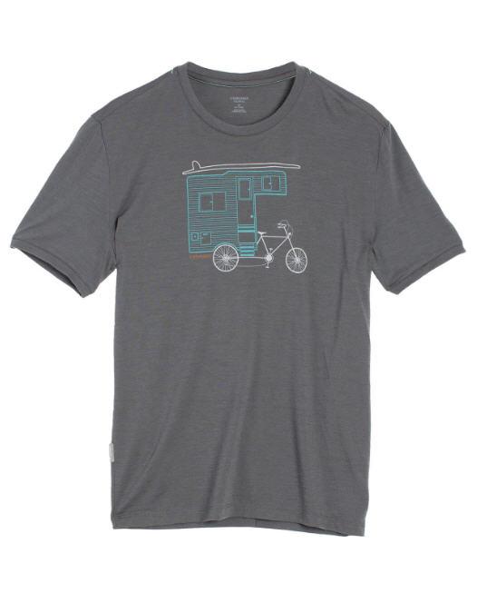 t-shirt Icebreaker merinos camper bike