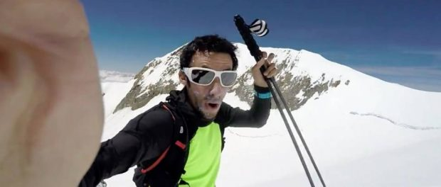 Kilian Jornet sur le Mont-Blanc