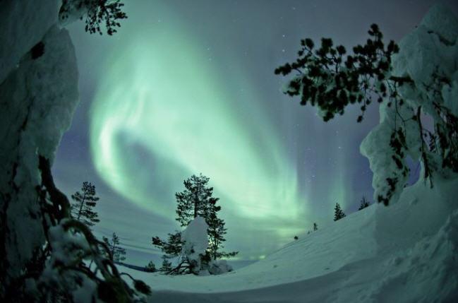 voir des aurores boreales en laponie