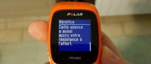 polar m430 résumé benefices