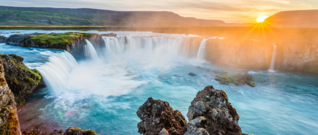 Islande Godafoss waterfall